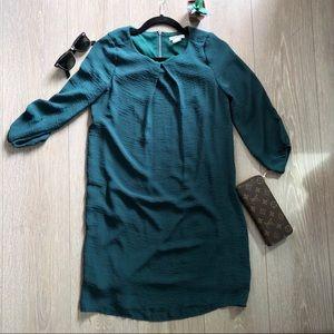 H&M green shift dress